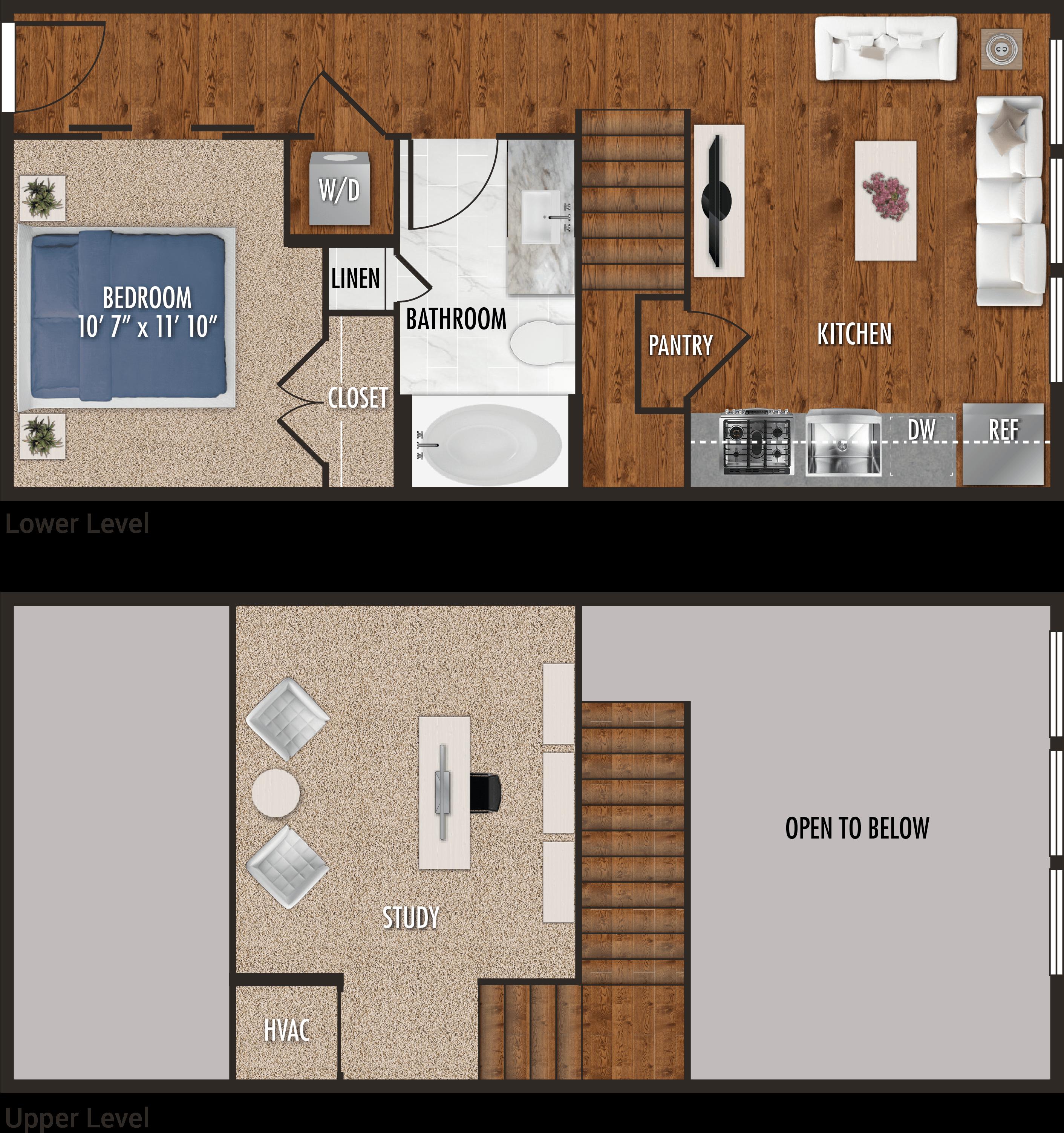 E2-M - Studio Floor Plan for Alexan 5151