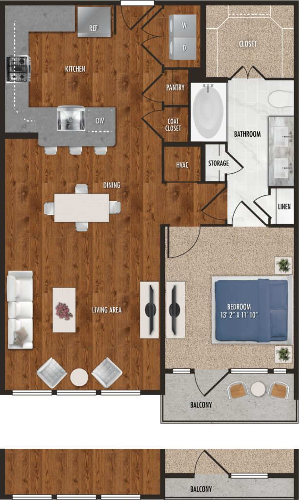 Stunning 1 bed/1 bath – The A8