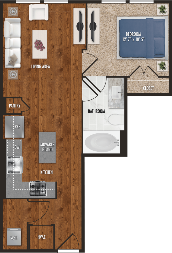 One Bedroom Houston Apartments
