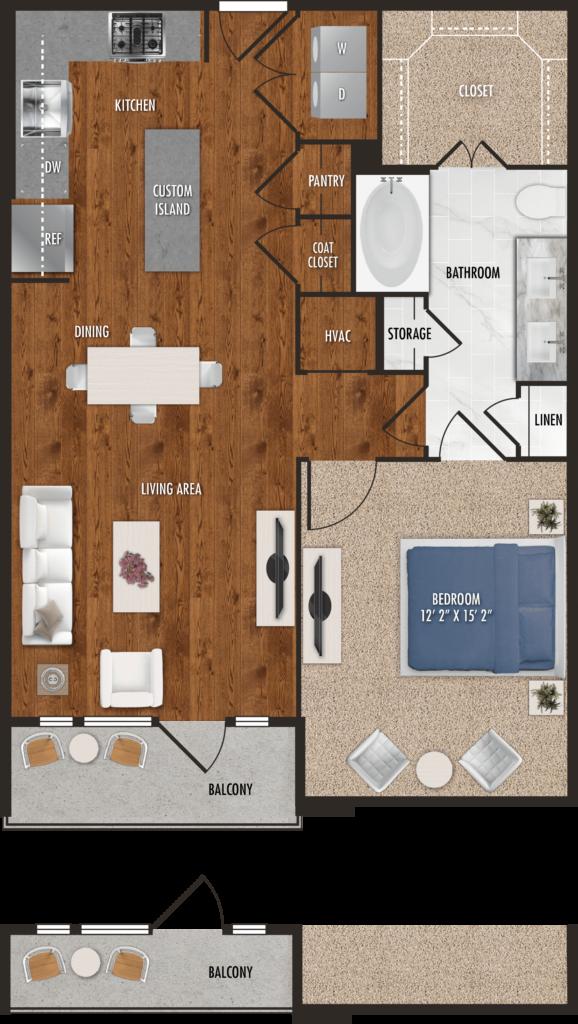Houston one-bedroom apartments